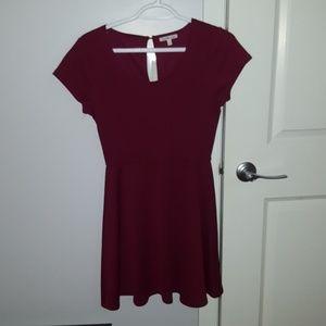 Charlotte Russe burgundy red dress casual medium
